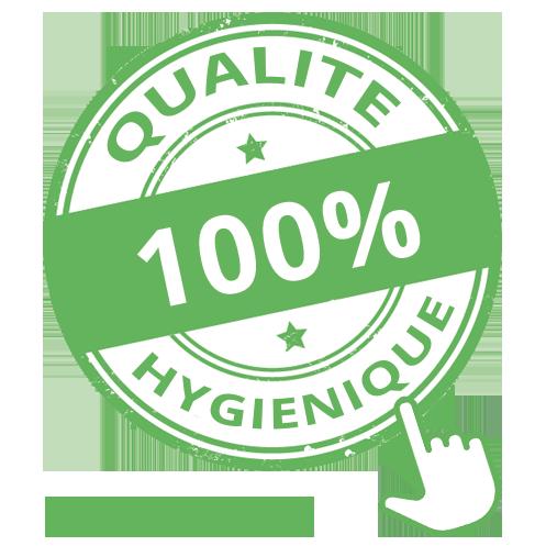 qualité 100% hygiénique